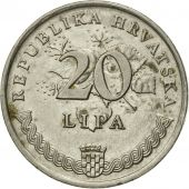 Monnaie, Croatie, 20 Lipa, 1993, TB+, Nickel plated steel, KM:7