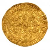 Charles VI, gold Ecu with crown