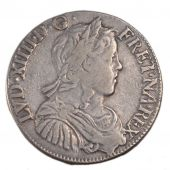 Louis XIV, ½ Écu with Long Hair
