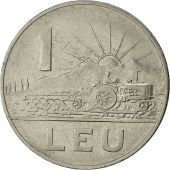 Roumanie, Leu, 1966, TB+, Nickel Clad Steel, KM:95