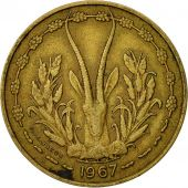 West African States, 10 Francs, 1967, TB, Aluminum-Nickel-Bronze, KM:1a