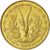 West African States, 5 Francs, 1965, SUP, Aluminum-Nickel-Bronze, KM:2a