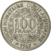 Monnaie, West African States, 100 Francs, 1967, TTB, Nickel, KM:4