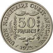 Monnaie, West African States, 50 Francs, 1972, SUP, Copper-nickel, KM:6