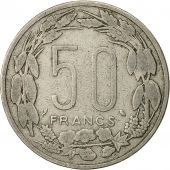 États de lAfrique équatoriale, 50 Francs, 1961, Paris, TTB, Copper-nickel