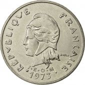 French Polynesia, 20 Francs, 1973, Paris, SUP, Nickel, KM:9