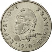 French Polynesia, 20 Francs, 1970, Paris, TTB, Nickel, KM:6