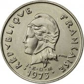 French Polynesia, 10 Francs, 1973, Paris, SUP, Nickel, KM:8
