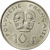 French Polynesia, 10 Francs, 1975, Paris, TTB+, Nickel, KM:8