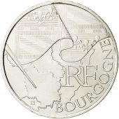 France, 10 Euro, Bourgogne, 2010, MS(64), Silver, KM:1649