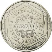 France, 10 Euro, Limousin, 2010, MS(64), Silver, KM:1660