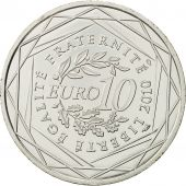 France, 10 Euro, Basse Normandie, 2010, MS(64), Silver, KM:1647