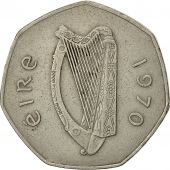Coin, IRELAND REPUBLIC, 50 Pence, 1970, EF(40-45), Copper-nickel, KM:24