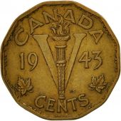 Coin, Canada, George VI, 5 Cents, 1943, Royal Canadian Mint, Ottawa, EF(40-45)