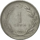 Coin, Turkey, Lira, 1965, EF(40-45), Stainless Steel, KM:889a.1