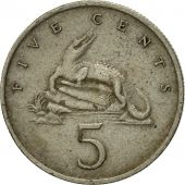 Coin, Jamaica, Elizabeth II, 5 Cents, 1969, Franklin Mint, EF(40-45)