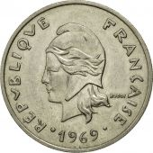 Monnaie, French Polynesia, 20 Francs, 1969, Paris, TTB, Nickel, KM:6