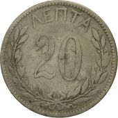 Coin, Greece, George I, 20 Lepta, 1894, Athens, EF(40-45), Copper-nickel, KM:57