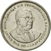 Coin, Mauritius, 20 Cents, 1990, EF(40-45), Nickel plated steel, KM:53