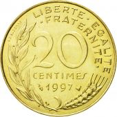 Coin, France, Marianne, 20 Centimes, 1997, Paris, AU(55-58), Aluminum-Bronze