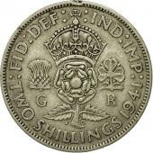 Coin, Great Britain, George VI, Florin, Two Shillings, 1941, EF(40-45), Silver