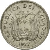 Coin, Ecuador, Sucre, Un, 1977, VF(30-35), Nickel Clad Steel, KM:83