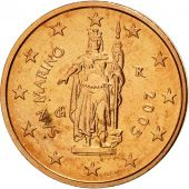 San Marino, 2 Euro Cent, 2005, SPL, Copper Plated Steel, KM:441