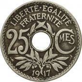 Monnaie, France, Lindauer, 25 Centimes, 1917, TB, Copper-nickel, Gadoury:380