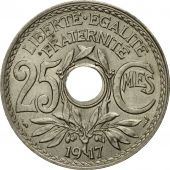 Monnaie, France, Lindauer, 25 Centimes, 1917, TTB+, Copper-nickel, Gadoury:380