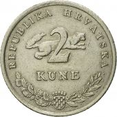 Monnaie, Croatie, 2 Kune, 2002, TB+, Copper-Nickel-Zinc, KM:21