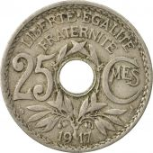 Monnaie, France, Lindauer, 25 Centimes, 1917, TB+, Copper-nickel, Gadoury:380