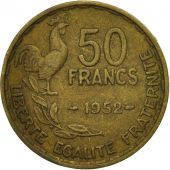 Coin, France, Guiraud, 50 Francs, 1952, Paris, VF(20-25), Aluminum-Bronze