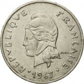Monnaie, French Polynesia, 20 Francs, 1967, Paris, TB+, Nickel, KM:6