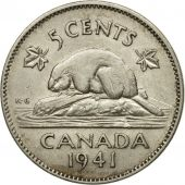 Coin, Canada, George VI, 5 Cents, 1941, Royal Canadian Mint, Ottawa, EF(40-45)