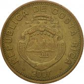 Coin, Costa Rica, 100 Colones, 2007, VF(30-35), Brass plated steel, KM:240a