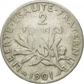 Coin, France, Semeuse, 2 Francs, 1901, Paris, VF(30-35), Silver, KM:845.1