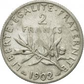 Coin, France, Semeuse, 2 Francs, 1902, Paris, VF(30-35), Silver, KM:845.1