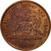 Coin, TRINIDAD & TOBAGO, Cent, 2000, Franklin Mint, EF(40-45), Bronze, KM:29