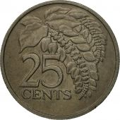 Coin, TRINIDAD & TOBAGO, 25 Cents, 1977, Franklin Mint, EF(40-45)