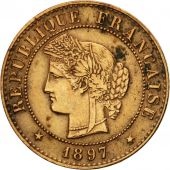 Coin, France, Cérès, Centime, 1897, Paris, VF(20-25), Bronze, KM:826.1