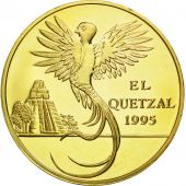 Guatemala, 10 Quetzales, 1995, Tower, SPL, Gilt Alloy, KM:2b.2