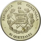 Guatemala, 10 Quetzales, 1995, Tower, SPL, Copper-nickel, KM:2f.1