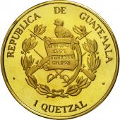 Guatemala, Quetzal, 1995, Tower, SPL, Gilt Alloy, KM:1b.2
