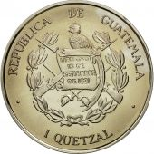 Guatemala, Quetzal, 1995, Tower, SPL, Copper-nickel, KM:1f.1