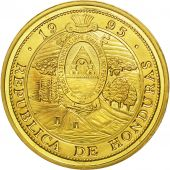 Honduras, 10 Lempiras, 1995, Tower, SPL, Gilt Alloy, KM:1b.2