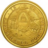 Honduras, 10 Lempiras, 1995, Tower, SPL, Gilt Alloy, KM:1b.1