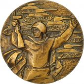 Russie, Medal, Armée Russe, Chars, (1943-1968), SUP+, Bronze