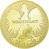 Poland, Medal, Jan Pawel II, Wielcy Polacy, 2014, MS(64), Copper Gilt