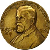 France, Médaille, Seventy Fifth Anniversary of Crane CO, Chicago, 1930, TTB+