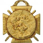 France, Journée du poilu, Medal, 1915, Very Good Quality, Gilt Bronze, 35